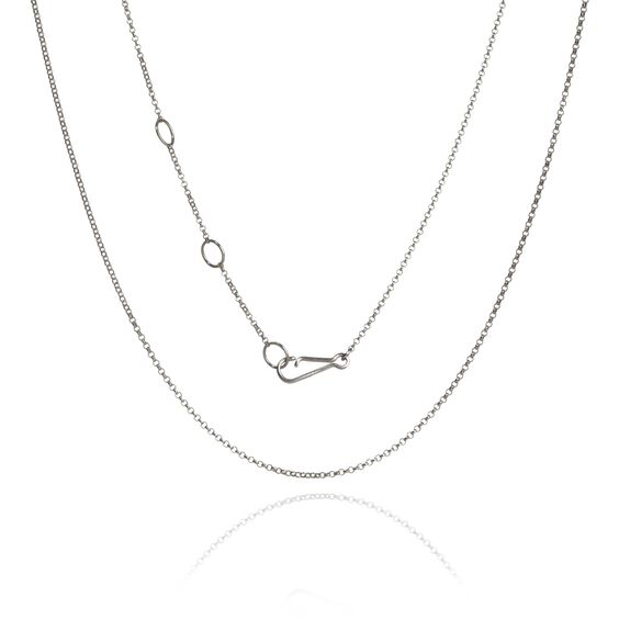 18ct White Gold Fine Belcher Chain | Annoushka jewelley