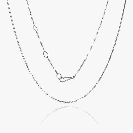 18ct White Gold Fine Belcher Chain | Annoushka jewelley