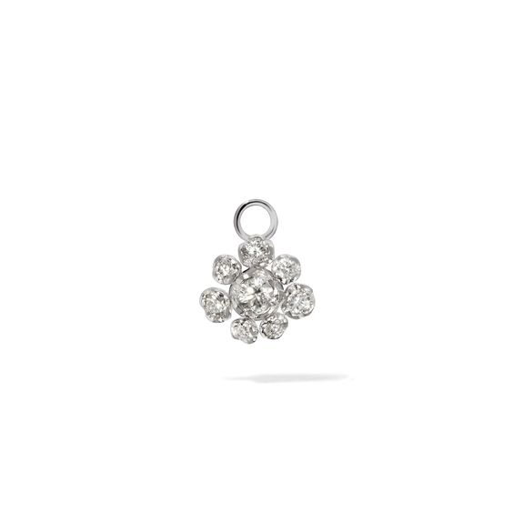 Marguerite 18ct White Gold Diamond Single Earring Drop | Annoushka jewelley
