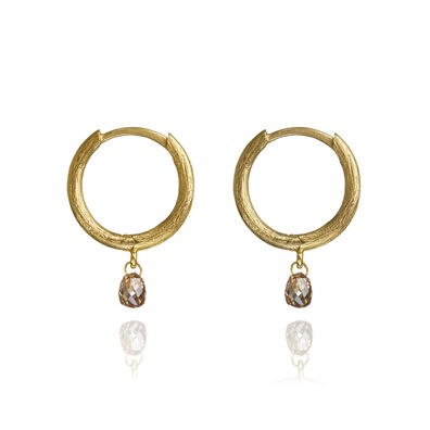 Hoopla 18ct Gold Diamond Hoop Earrings