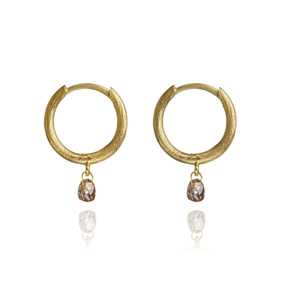 Hoopla 18ct Gold Diamond Hoop Earrings | Annoushka jewelley