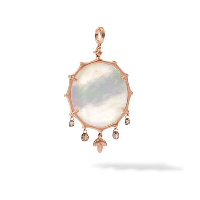 Dream Catcher 18ct Rose Gold Pearl Large Pendant