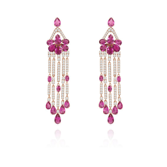 Sutra Pink Tourmaline Earrings