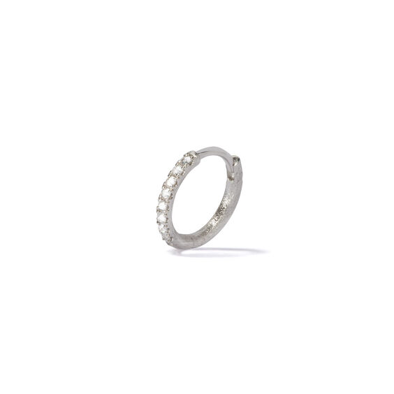 Dusty Diamonds 18ct White Gold Diamond 12mm Hoop | Annoushka jewelley