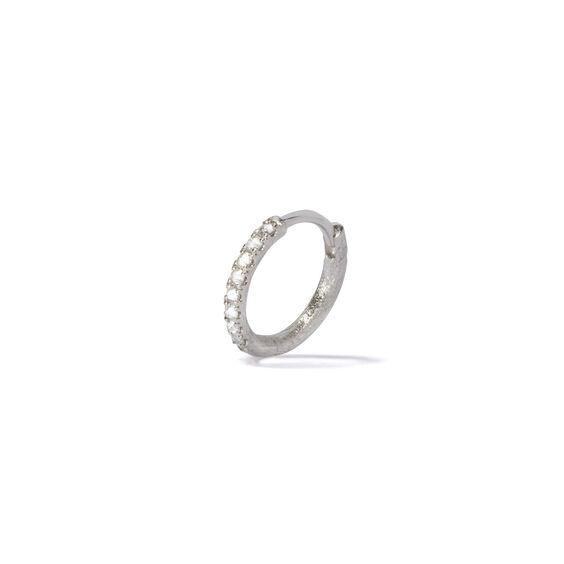 Dusty Diamonds 18ct White Gold Diamond 12mm Hoop | Annoushka jewelley