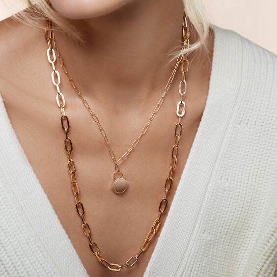 Lovelock 18ct Gold Mini Cable Chain Charm Necklace