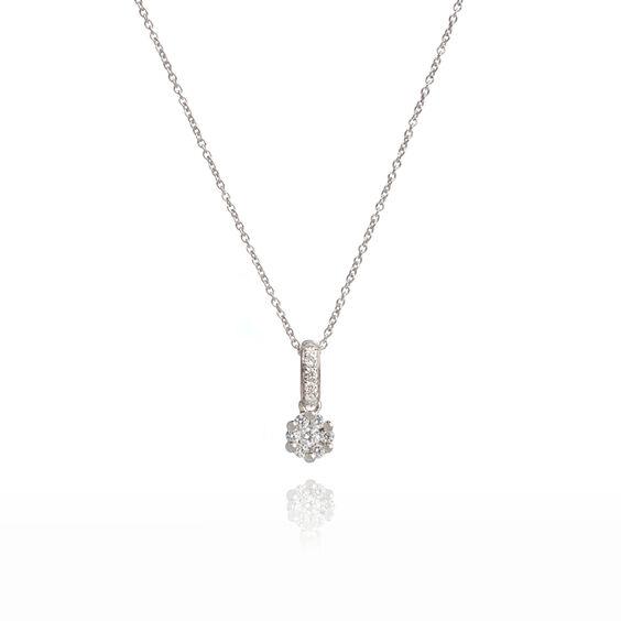 Daisy 18ct White Gold 0.15ct Diamond Necklace | Annoushka jewelley