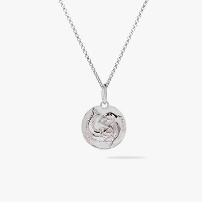 Mythology 18ct White Gold Pisces Necklace