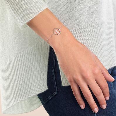 18ct White Gold Diamond Initial I Bracelet