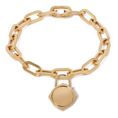 Lovelock 18ct Gold Cable Chain Charm Bracelet