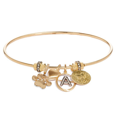 Mythology 18ct Gold Charm Bangle