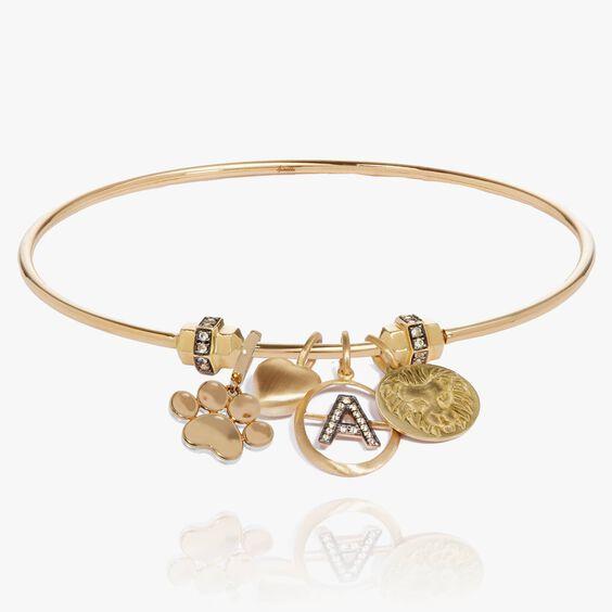 Mythology 18ct Gold Charm Bangle | Annoushka jewelley