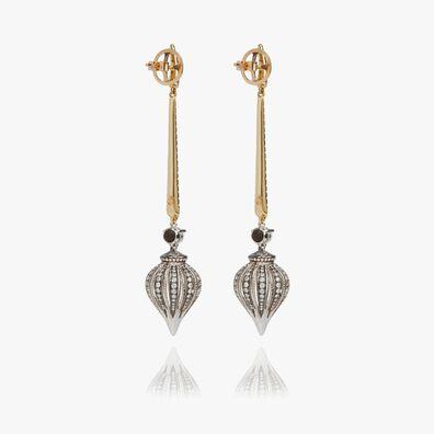 Touch Wood 18ct Gold Diamond Drop Earrings