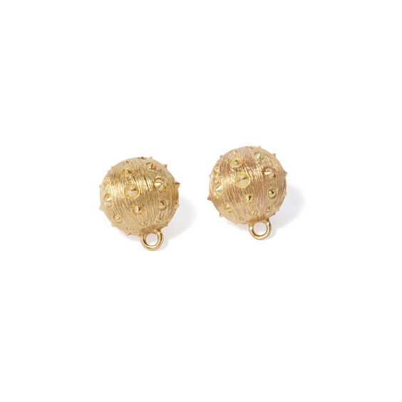 A Single Set of Topiary 18ct Gold Cufflinks