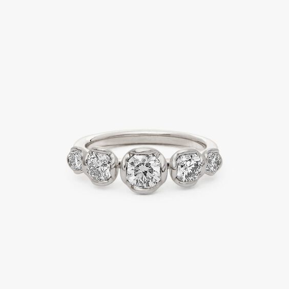 Marguerite 18ct White Gold Five Stone 0.50ct Engagement Ring   Annoushka jewelley