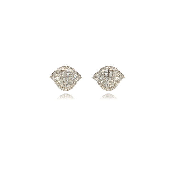 Flamenco 18ct White Gold 0.72 ct Diamond Stud Earrings