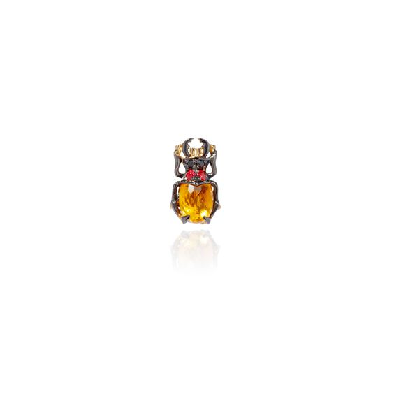Mythology 18ct Gold Citrine Beetle Single Stud | Annoushka jewelley