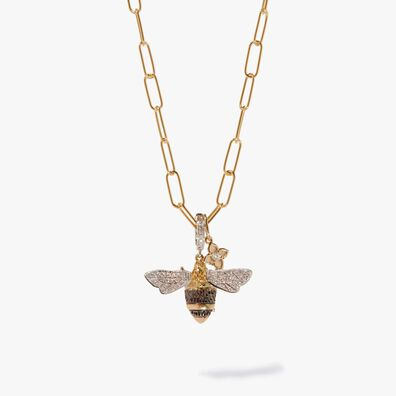 Mythology & Tokens Gold Diamond Bee Necklace