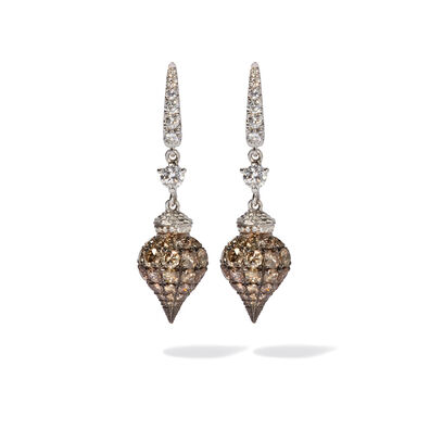 Touch Wood 18ct White Gold Diamond Earrings
