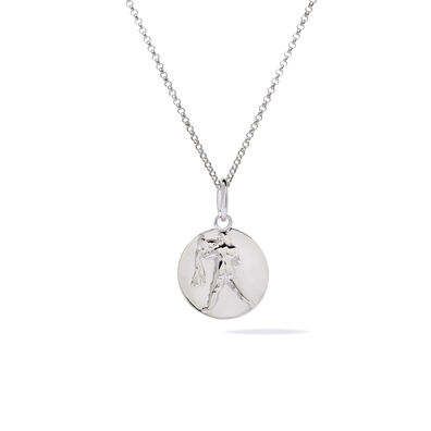 Mythology 18ct White Gold Aquarius Necklace
