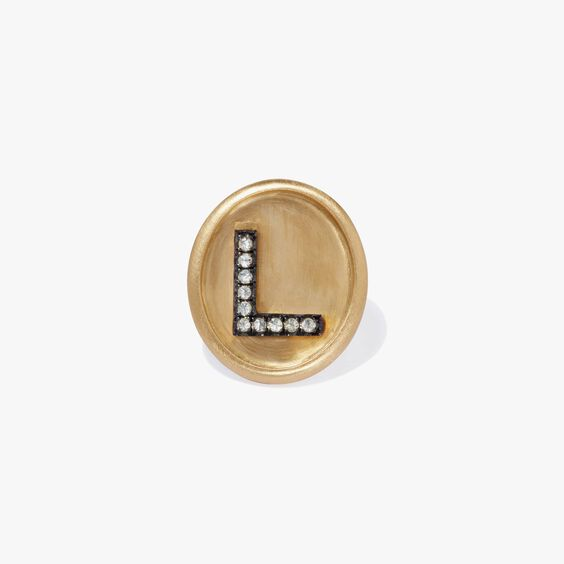 18ct Gold Diamond Initial L Face | Annoushka jewelley