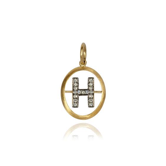 18ct Gold Diamond Initial H Pendant   Annoushka jewelley