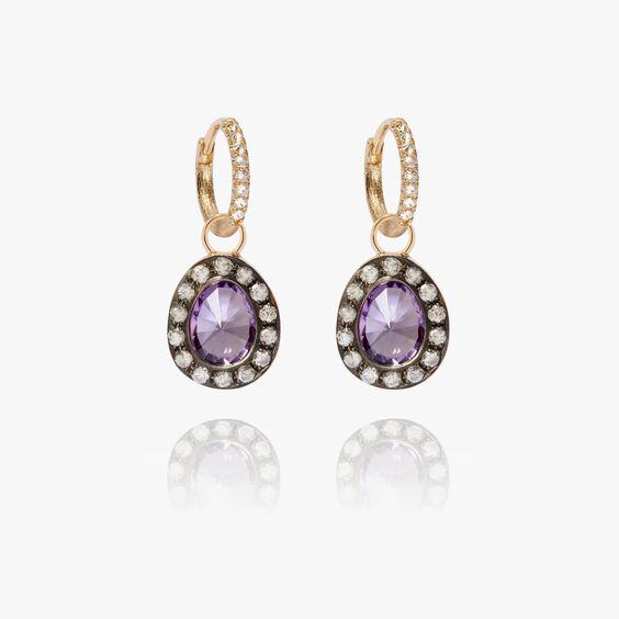 Dusty Diamonds 18ct Gold Small Amethyst Earrings | Annoushka jewelley