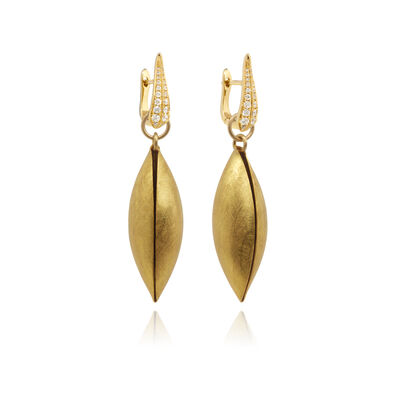 18ct Gold Diamond Seed Earrings