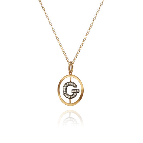 18ct Gold Diamond Initial G Necklace | Annoushka jewelley