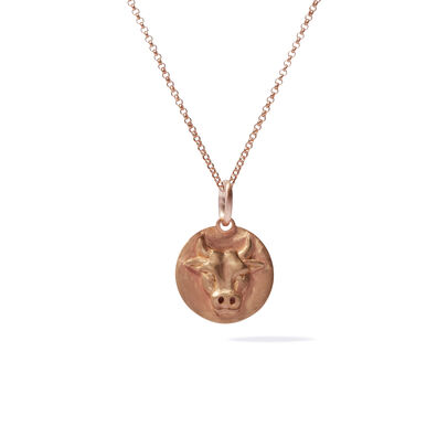 Mythology 18ct Rose Gold Taurus Necklace