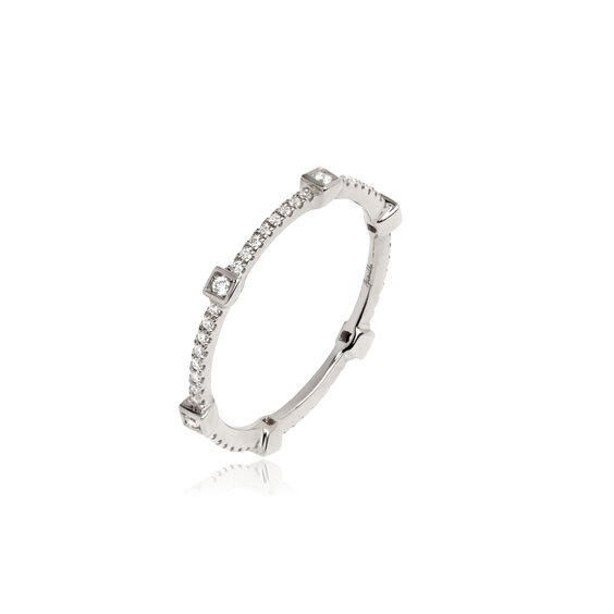 Pavilion 18ct White Gold Diamond Eternity Ring | Annoushka jewelley