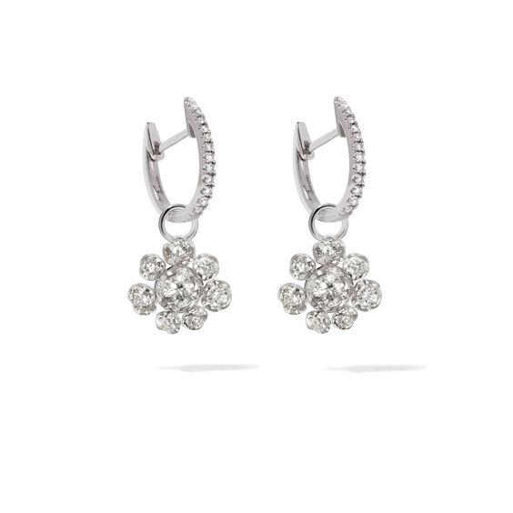Marguerite 18ct White Gold Diamond Earrings | Annoushka jewelley