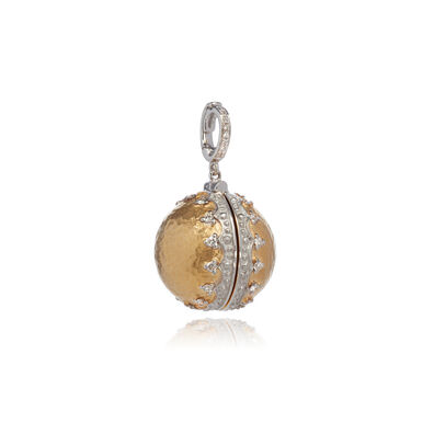 Mythology 18ct Gold Orb Locket Charm