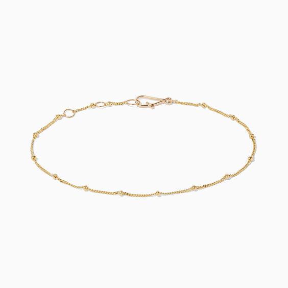 14ct Gold Saturn Bracelet Chain