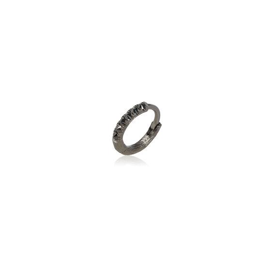 Dusty Diamonds 18ct White Gold Black Diamond 10mm Hoop | Annoushka jewelley