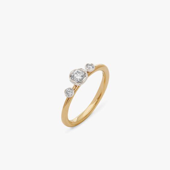 Marguerite 18ct Yellow & White Gold Three Stone 0.25ct Engagement Ring