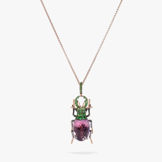Mythology 18ct Rose Gold Amethyst Beetle Charm | Annoushka jewelley