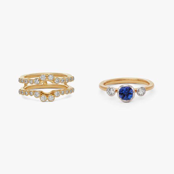 18ct Gold Tanzanite & Diamond Engagement Jacket Ring | Annoushka jewelley