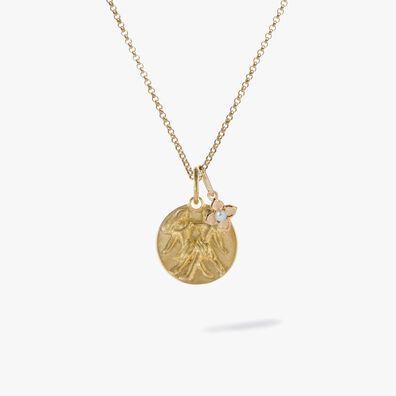 Gold Gemini & Pearl June Birthstone Necklace
