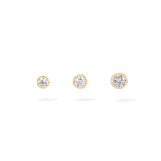 Love Diamond 14ct Gold Solitaire Stud Earring Trio | Annoushka jewelley