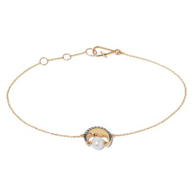 Mythology 18ct Gold Pearl Moon Bracelet