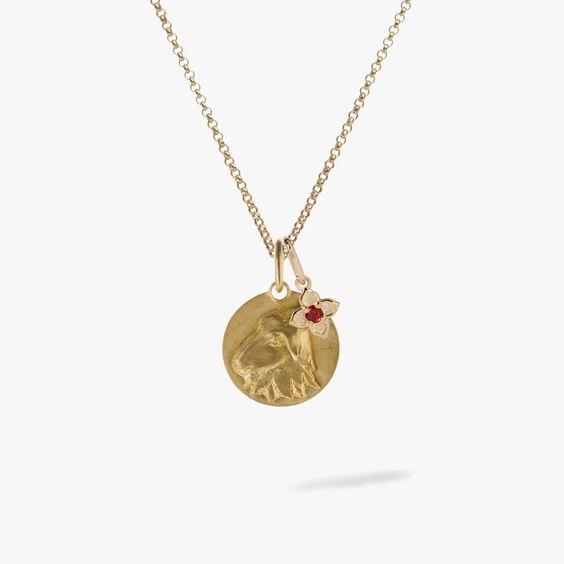 Gold Capricorn & Garnet January Birthstone Necklace | Annoushka jewelley