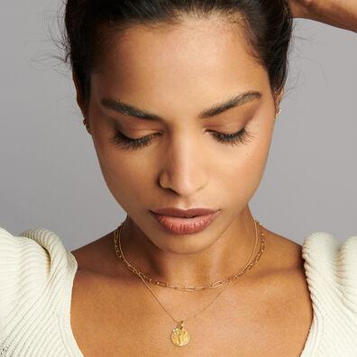 Gold Scorpio & Citrine November Birthstone Necklace