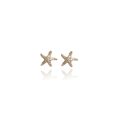 Love Diamonds 18ct Gold Diamond Starfish Studs