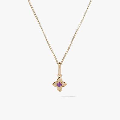 Tokens 14ct Gold Amethyst Necklace