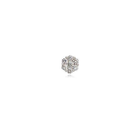 Daisy 18ct White Gold 0.5 ct Diamond Single Stud | Annoushka jewelley