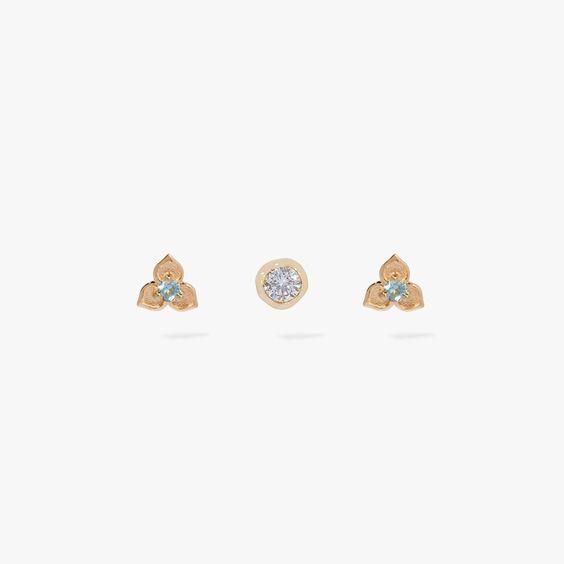 Tokens 14ct Gold Aquamarine Earring Trio