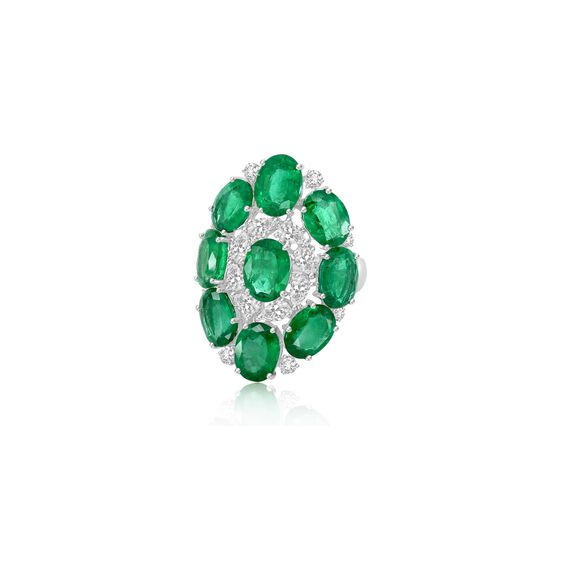 Sutra Emerald & Diamond Ring | Annoushka jewelley