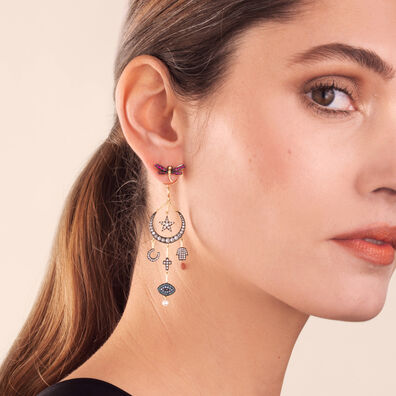 Love Diamonds 18ct Yellow Gold Diamond Lunar Earrings