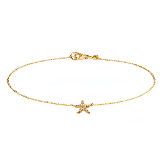 Love Diamonds 18ct Gold Diamond Starfish Bracelet | Annoushka jewelley